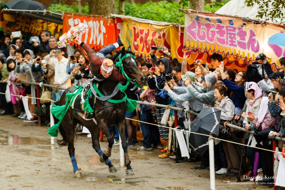 The tazunakuguri performed at the Trick Riding Ritual at Fujinomori Shrine.