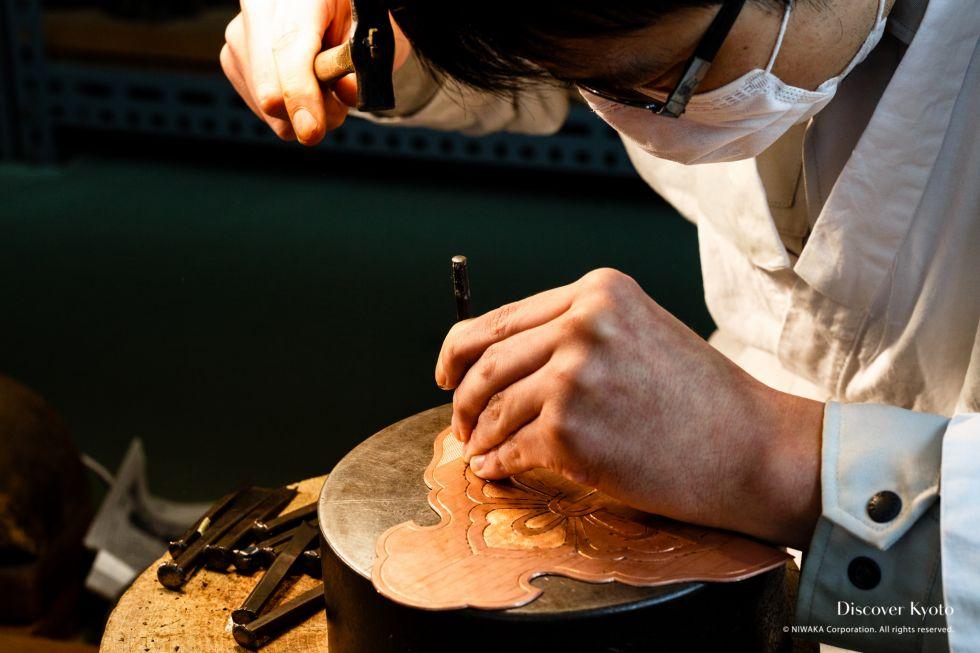 Morimoto Metalwork Process Nanako-maki Detail