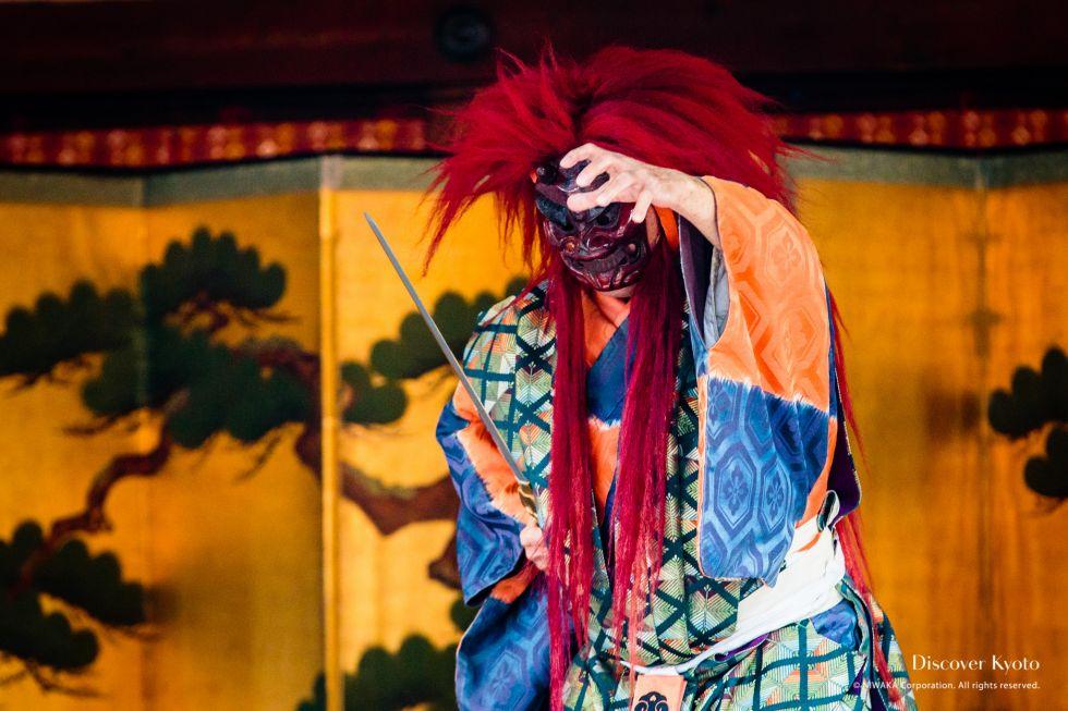 Oni appears at Setsubun at Kitano Tenmangū.