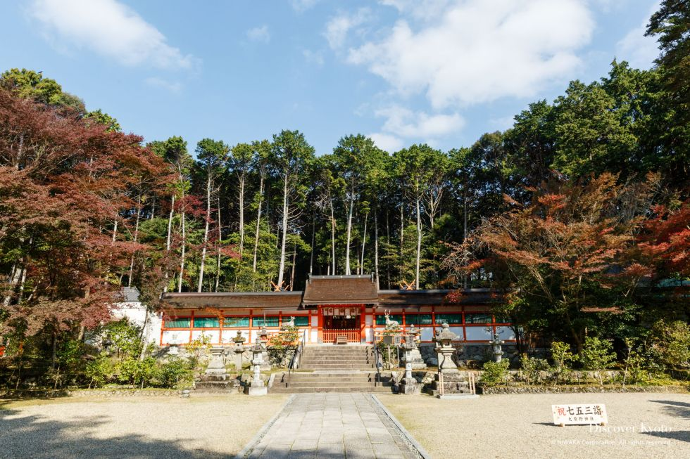 Ōharano Shrine Main Hall Trees