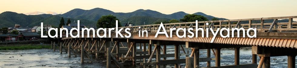 Itinerary landmarks in arashiyama