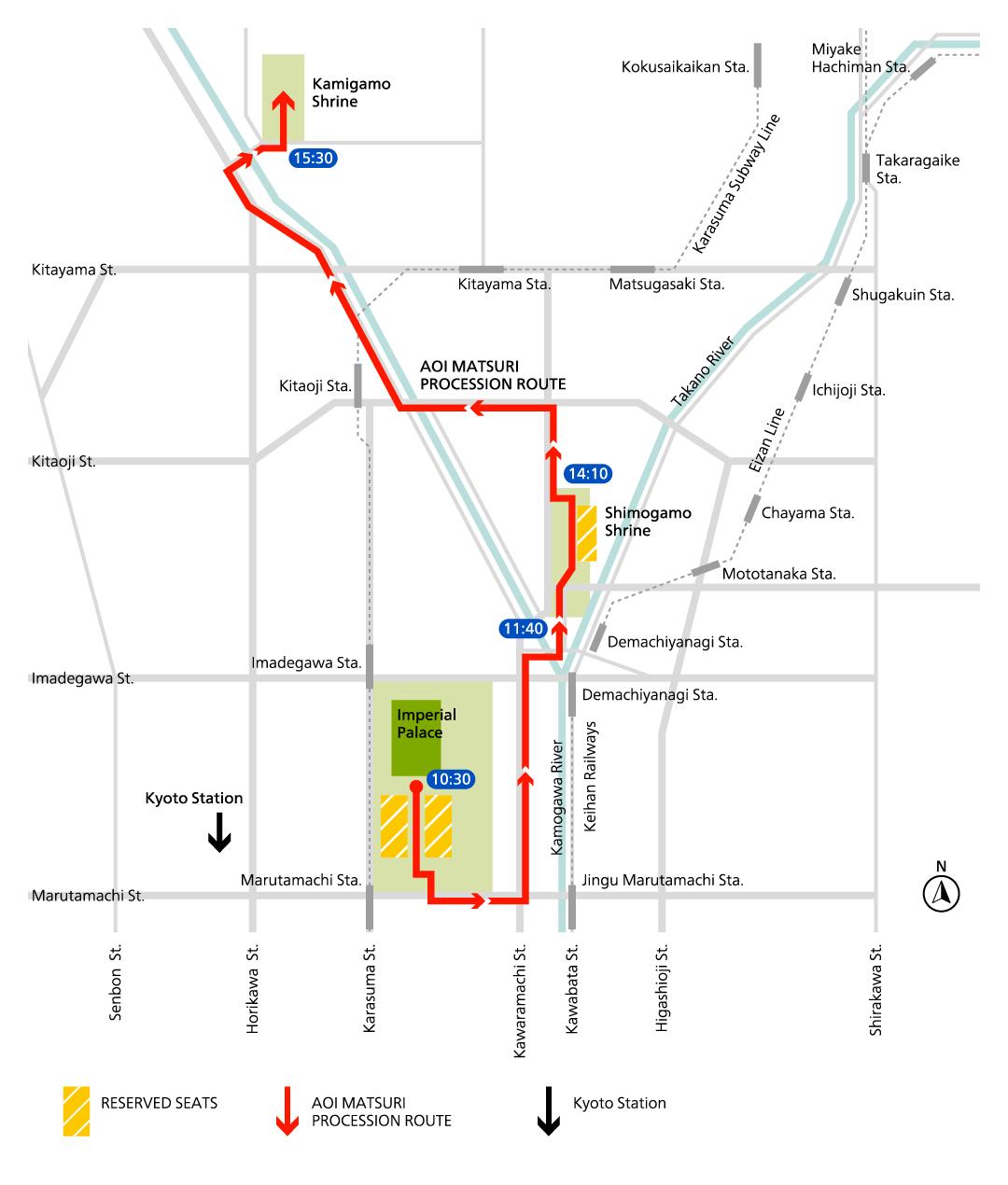 aoi matsuri route map