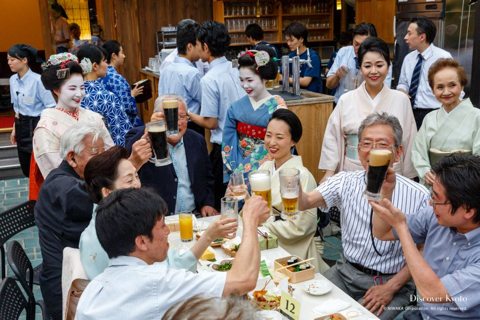 Kamishichiken Beer Garden Fun Atmosphere