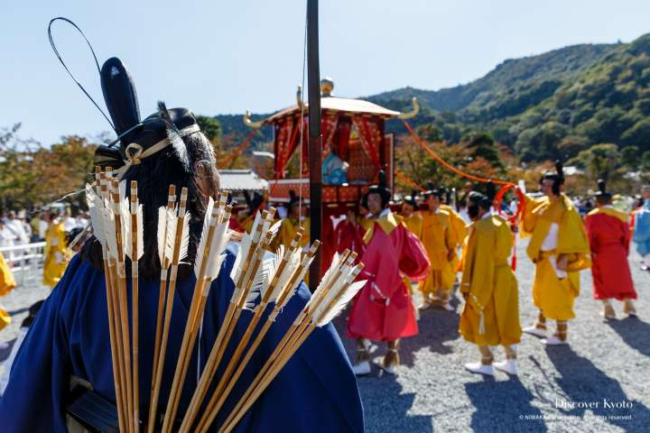 An archer's quiver in the procession during the Saigū Gyōretsu at Nonomiya Shrine.