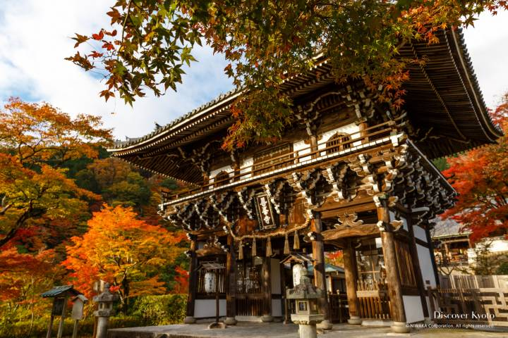 Yoshimine-dera Autumn Gate Color