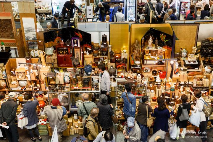 Kyoto Antique Fair Crowds Above
