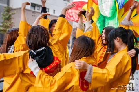 Young girls enjoy the Awata Taisai at Awata Shrine.