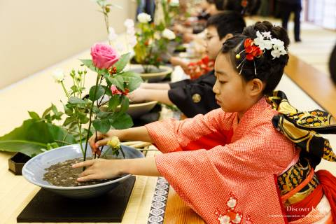 Ikenobo Hatsuike Flowers Girl Cute Kimono