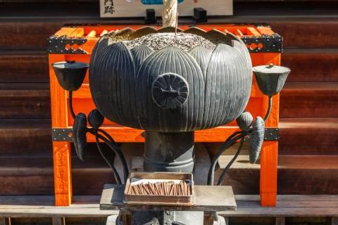 Bishamon-dō Temple Incense Lotus