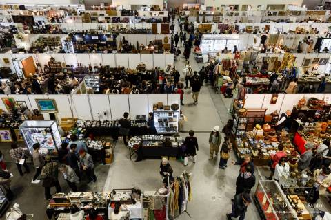 Kyoto Antique Fair Crowds