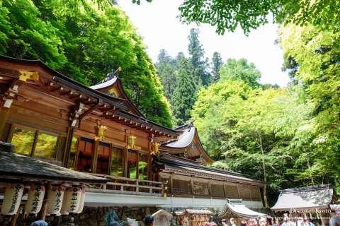 The main hall during Kifune Matsuri at Kifune Shrine.