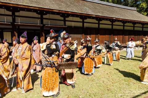 Mounted archery rituals, like the Kasagake Shinji at Kamigamo Shrine, can be traced back to the reign of Emperor Kinmei (531-572 AD).