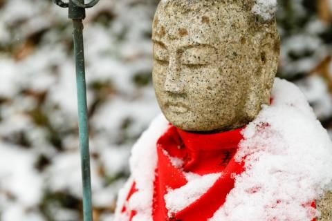 Jingo-ji Snow Jizo