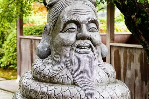 Statue of the local deity at Mimuroto-ji temple.