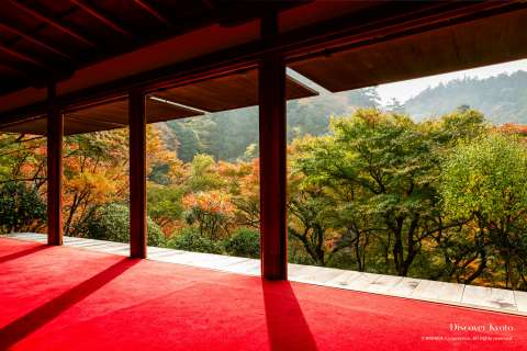 View from the Sekisui-in Hall at Kōsan-ji Temple.