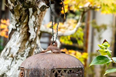 Shobo-ji metal lantern front garden