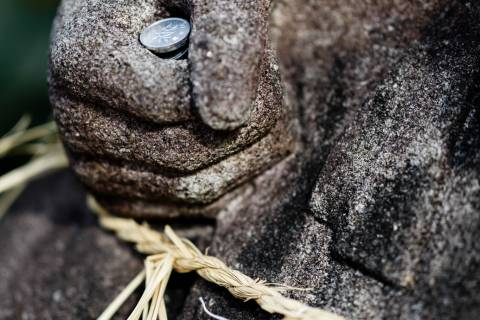 Ebisu Shrine Statue Money