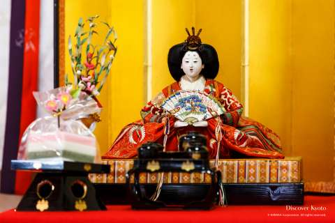 The Empress doll at Hiina Matsuri at Ichihime Shrine.