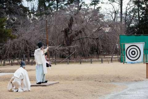 Hitting the target at Musha Jinji at Kamigamo Shrine.