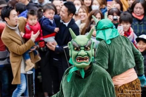Iwashimizu Hachimangū Setsubun Green Oni