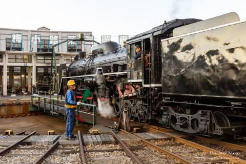 Kyoto Railway Museum Locomotive Inspection