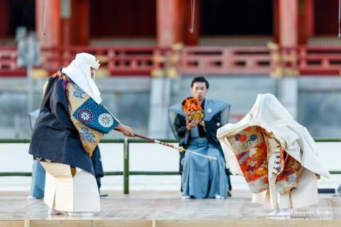 Takigi Noh 2018 Hashi Benkei