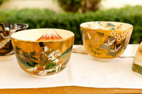 Kiyomizuyaki no Sato Matsuri ceramics pottery chawan tea bowls