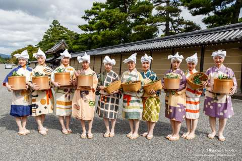 Katsura-me participants from the 2014 Jidai Matsuri at Heian Shrine.