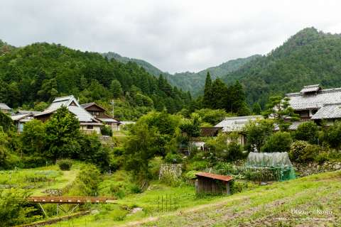 View of the countryside near Jakkō-in.