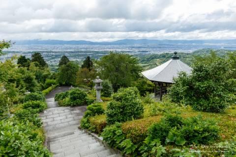 Yoshimine-dera Temple View Mountain