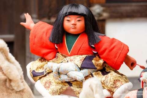 A doll on display at the Ningyō Kuyō at Hōkyō-ji.