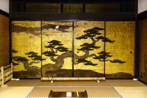 Keishun-in Gold Pine Kano Painting
